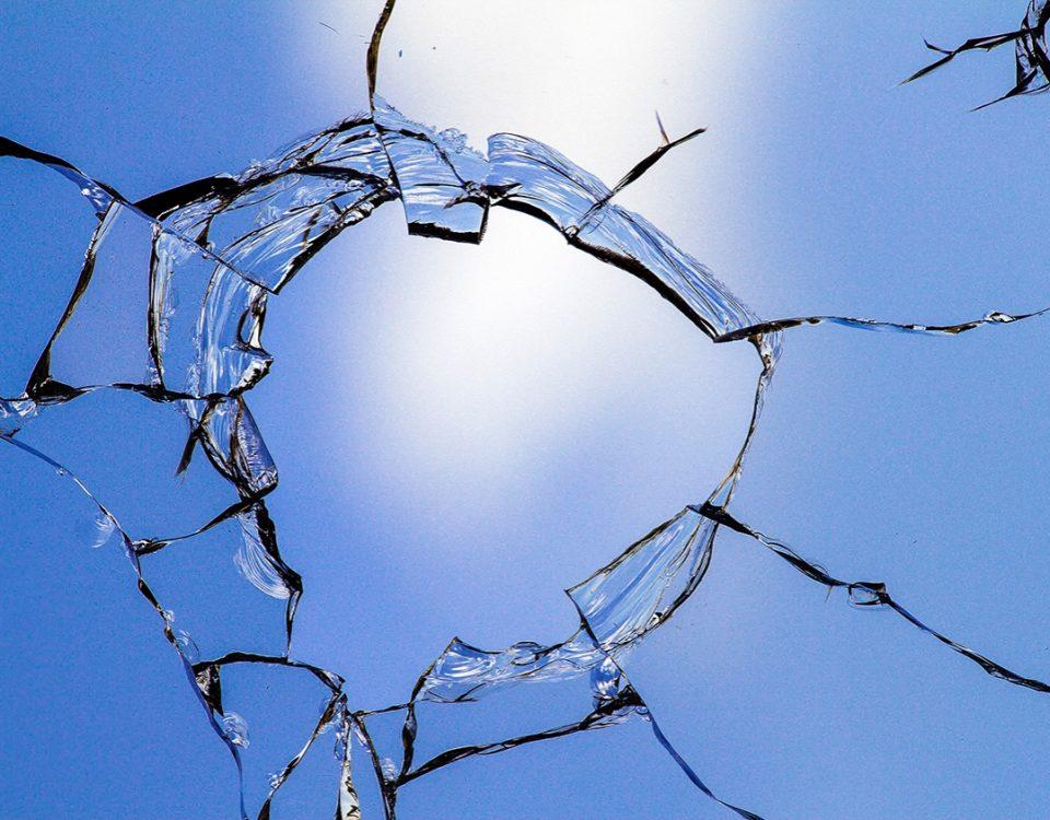 Women shattering glass ceiling